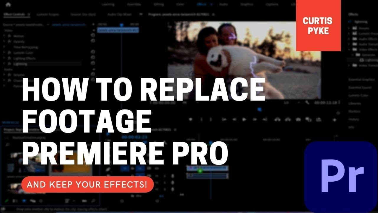 How To Replace / Swap Video Footage (With Effects!) - Adobe Premiere Pro