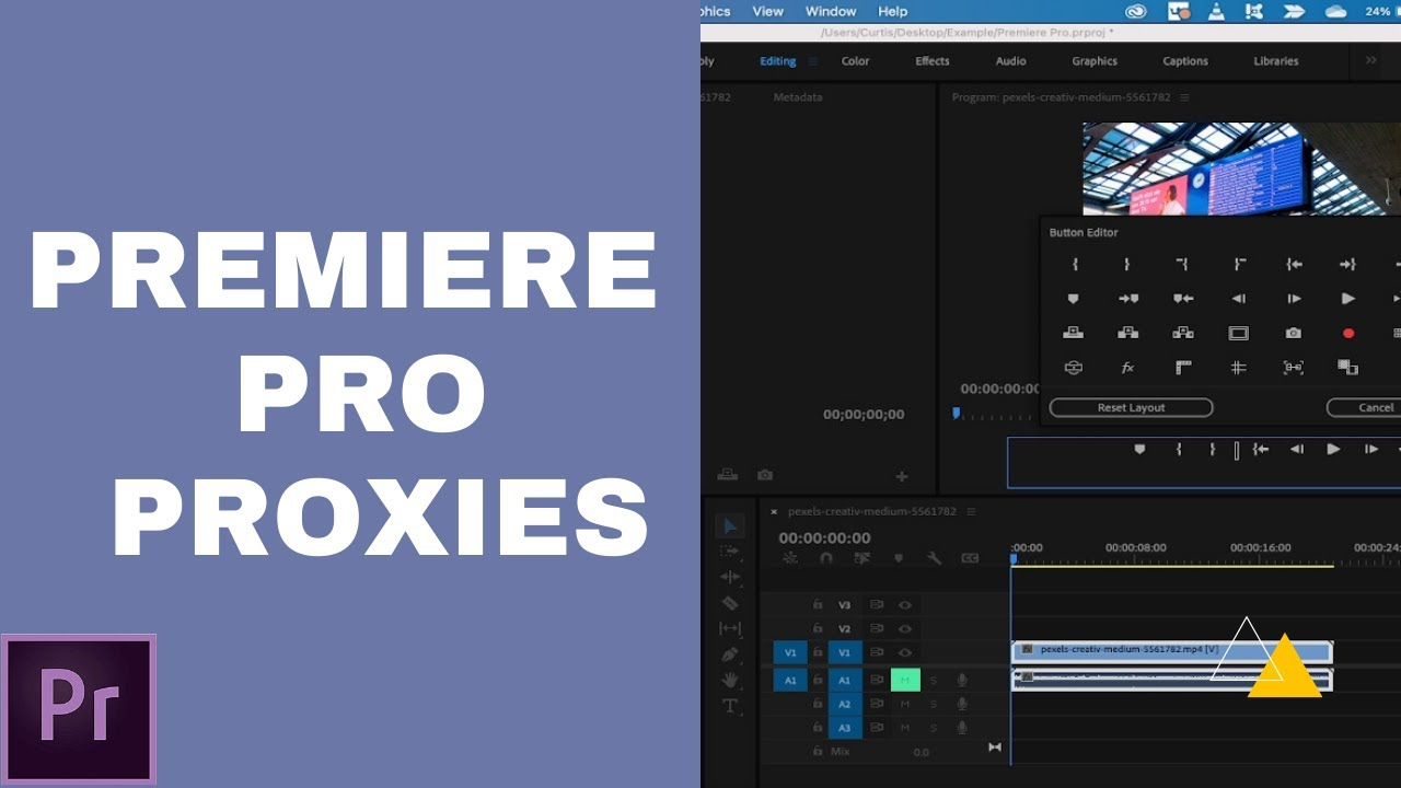 How to Create Proxy / Proxies / Placeholders - Adobe Premiere Pro