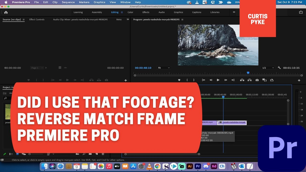 Did I Use That Footage? Reverse Match Frame - Premiere Pro