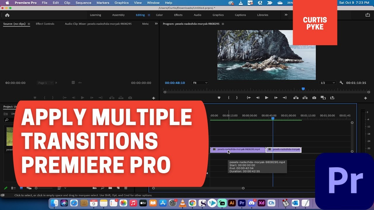 How To Apply Transitions to Multiple Clips at Once - Premiere Pro