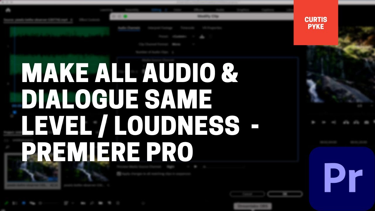 How To Make All Voices and Audio Same Level / Loudness - Premiere Pro
