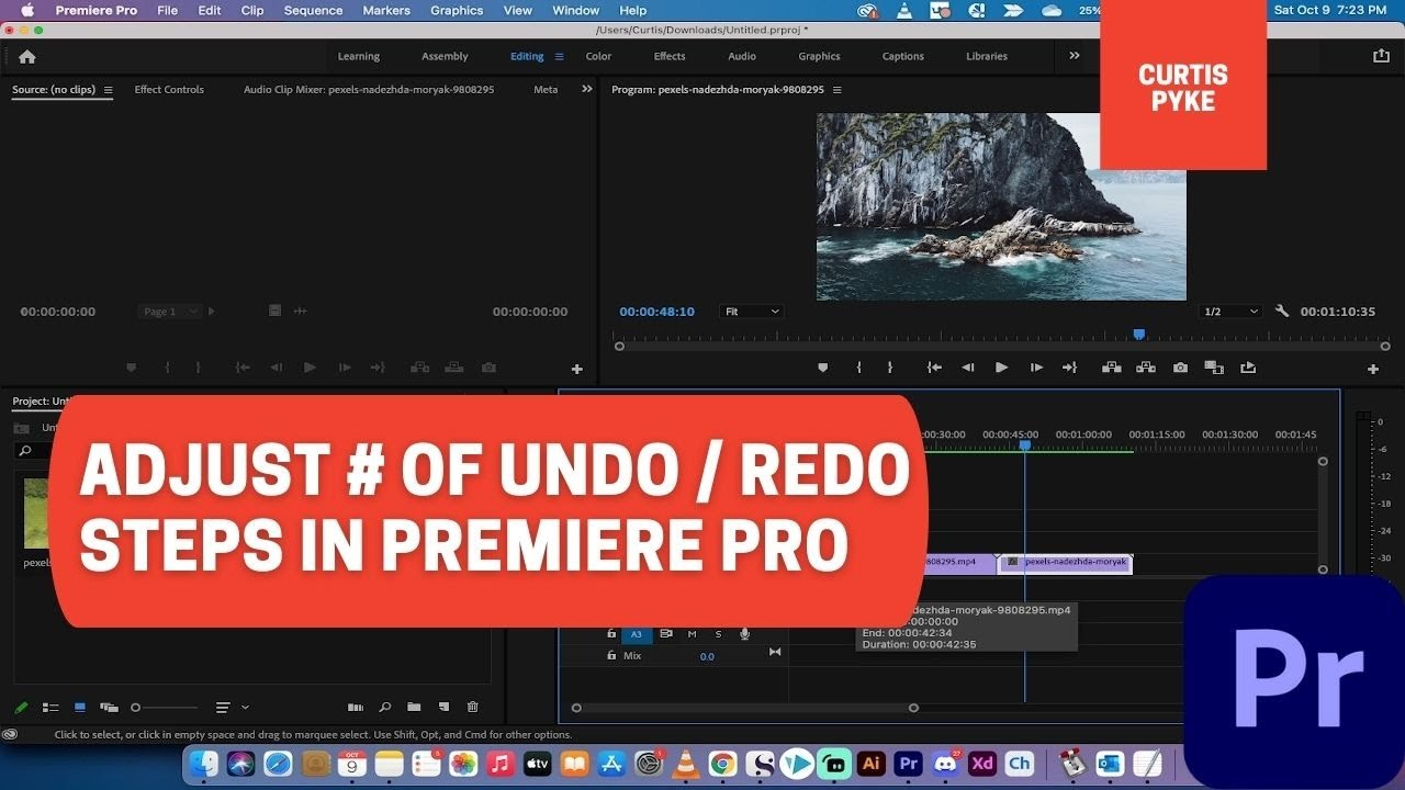 How to Adjust Number of Undo and Redo Steps - Premiere Pro