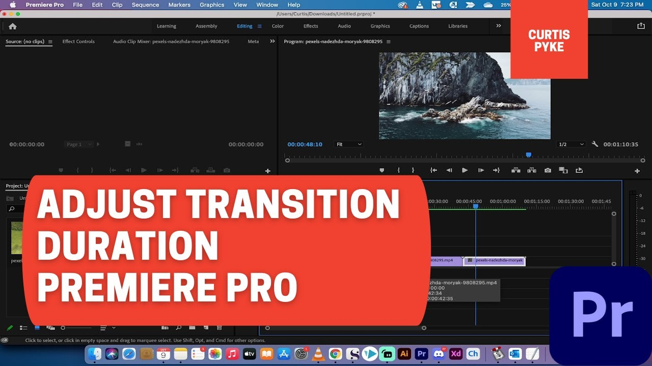 How to Adjust Transition Duration / Length - Premiere Pro