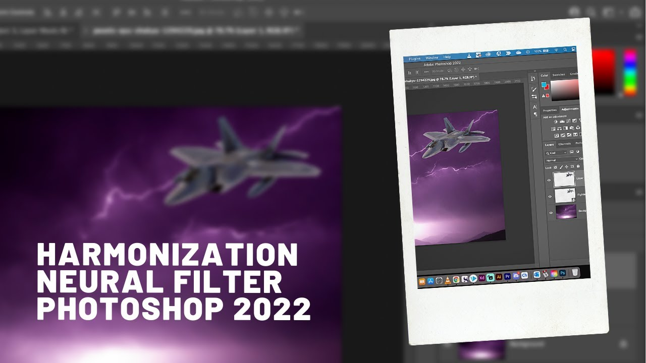 Photoshop 2022 - Harmonization Neural Filter - Match Color and Tone