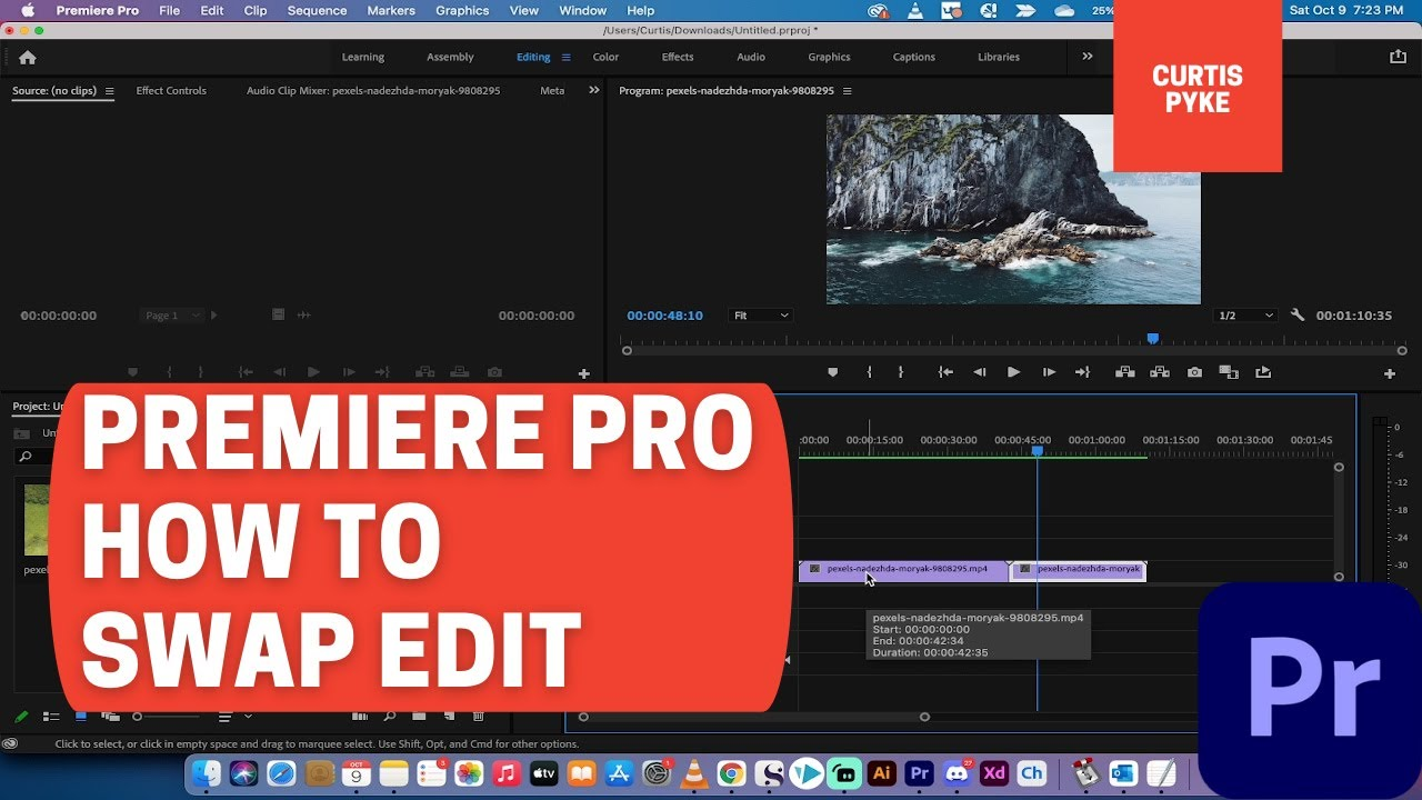 Premiere Pro - How To Do A Swap Edit