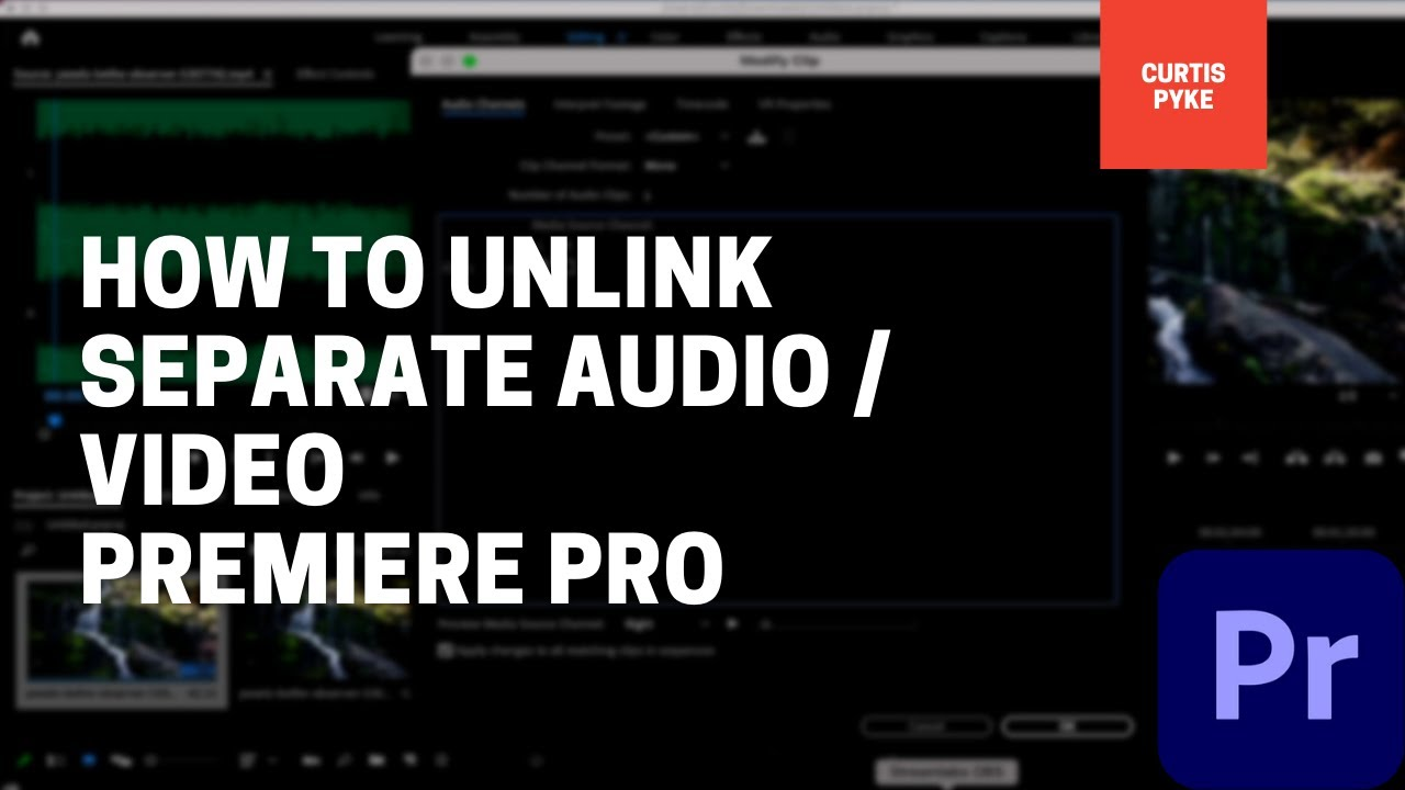 Premiere Pro - Two ways to unlink audio / video - edit separately