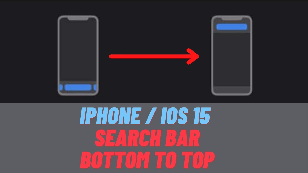 iPhone - iOS 15 - How To Move Search Bar To Top